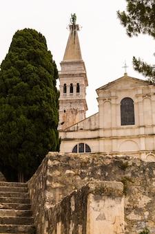 Saint euphemia church in the city of rovinj, croatia.