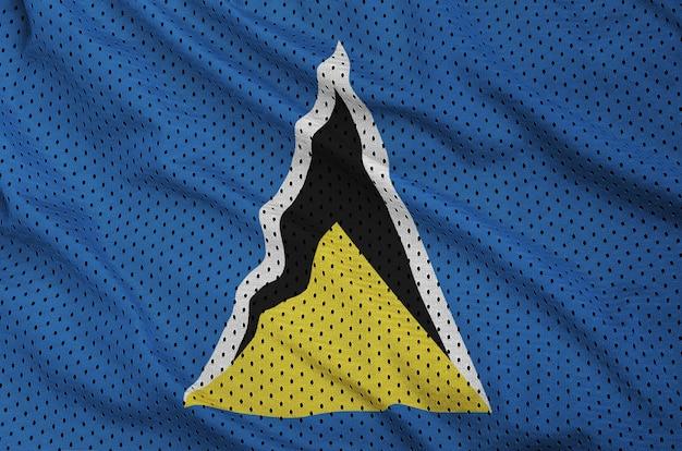 Флаг сент-люсии с принтом на сетке из полиэстера и нейлона