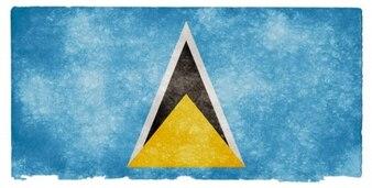 Saint lucia grunge flag