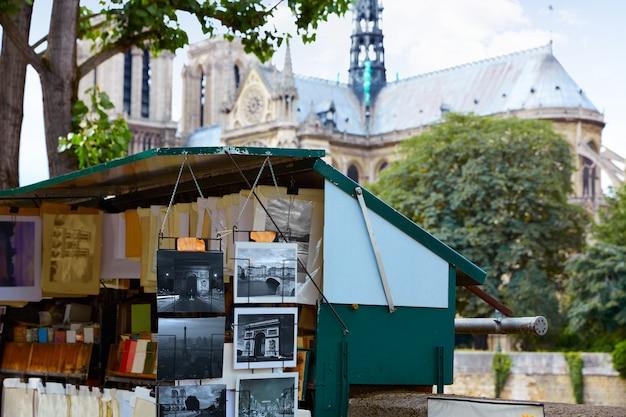 Saint michel postcards in notre dame paris