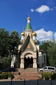 Saint nikolas russian church, tsurkva sveta nikolai in sofia, bulgaria