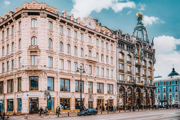 Санкт-петербург, россия - 5 ноября 2019 г .: знаменитый дом в санкт-петербурге-дом певицы. россия.