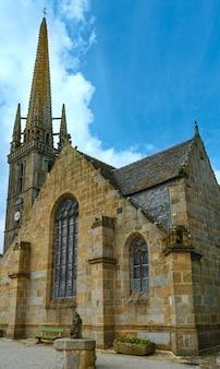 The saint-suliau church (16 th - 18 th) . sizun, brittany, france. spring view.