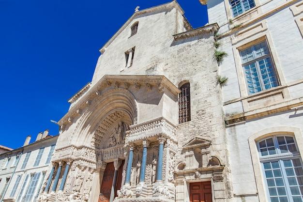 Saint trophime church in arles, france