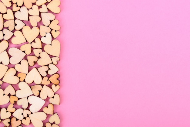 Saint valentine background heart. color pink.