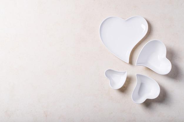 Saint valentine's day ceramic plates