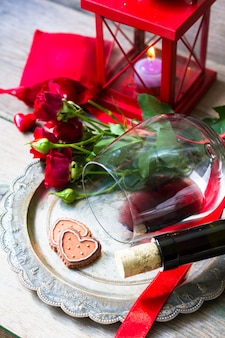 ビンテージスタイルの聖バレンタインの日