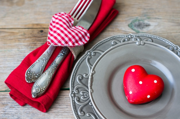 Saint valentines day in vintage style