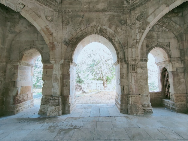 Sakar khans dargah the largest tomb structure in the old city of champaner gujarat india asia