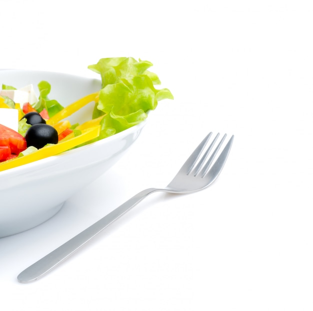 Salad and fork