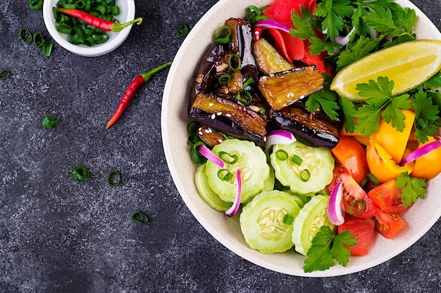 Salad fresh with raw vegetables
