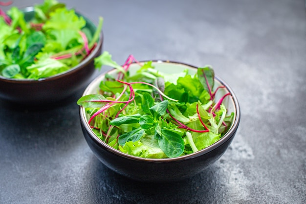 サラダグリーンレタスミックスジューシーな新鮮なマイクログリーンスナック