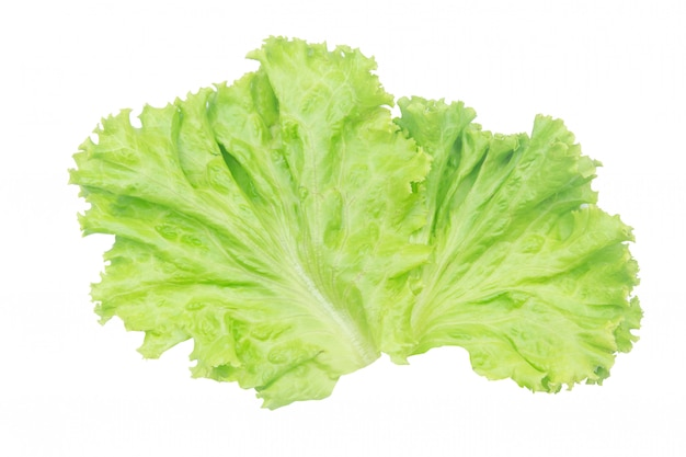 Salad leaf. lettuce isolated on white with clipping path