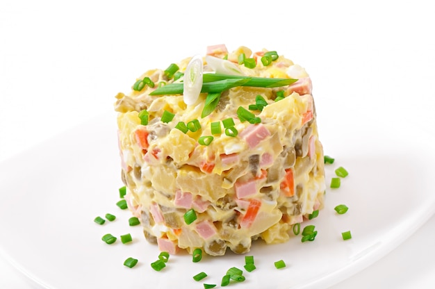 Salad olivier - russian traditional salad