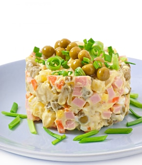 Salad olivier - russian traditional salad
