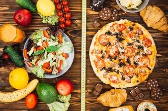 Salad vs pizza