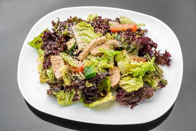 Salad with meat chicken