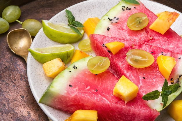 Salad with watermelon