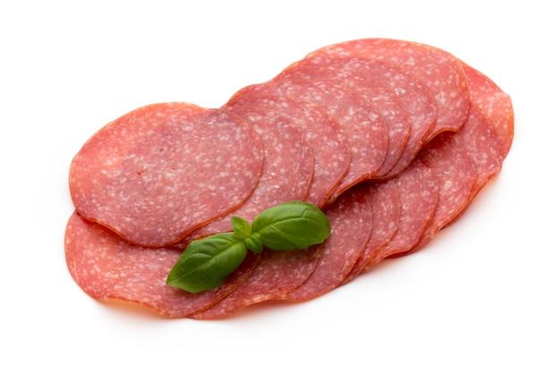 Salami smoked sausage slices