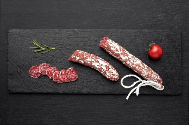 Salami and tomatoes