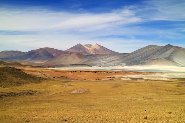 Salar de talar, the high plateau salt lakes in los flamencos national reserve, chile