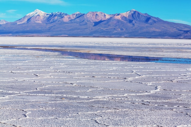 Salar de uyuni, bolivia. largest salt flat in the world unusual landscape nature