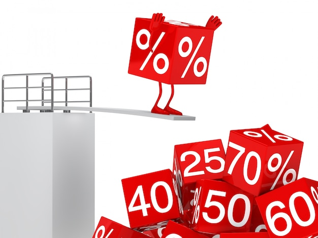 Sale character in the springboard