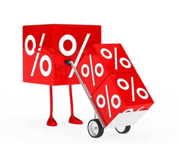 Sale cube using a trolley