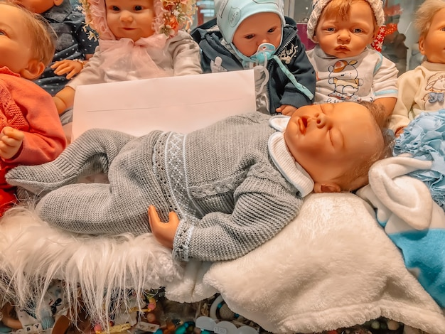 Sale of dolls in a store for children