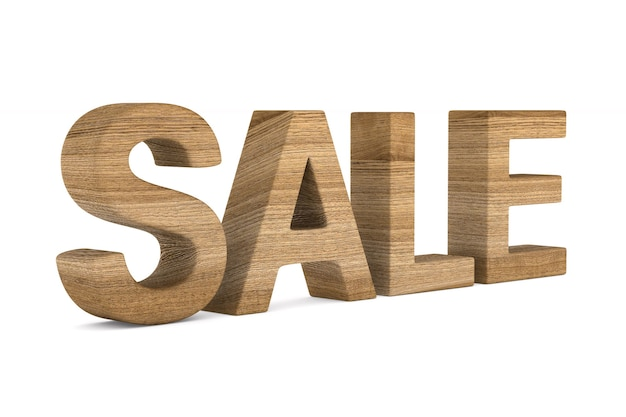 Продажа на пустом месте. изолированные 3d иллюстрации