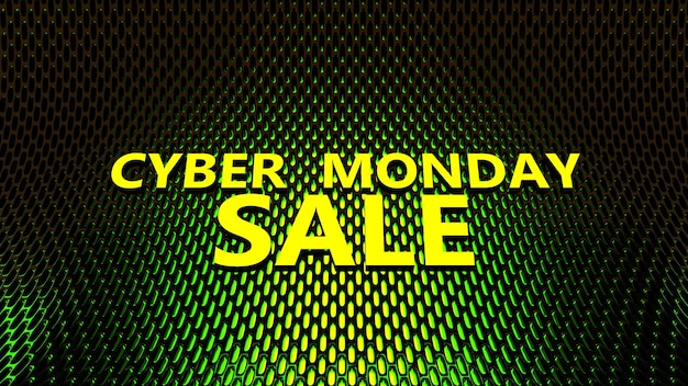 Sale technology banner for cyber monday event.