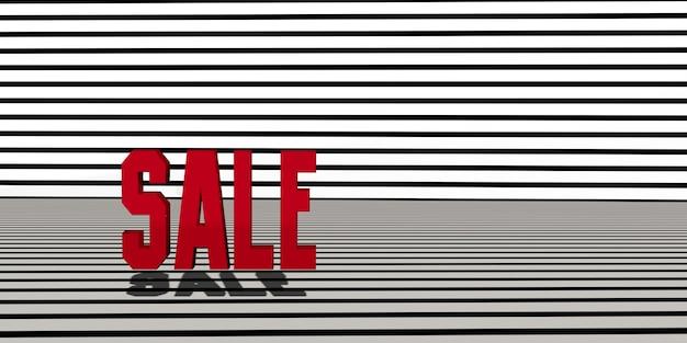 배경 흑백 대각선 줄무늬 얼룩말 패턴 3d 그림에 판매 텍스트