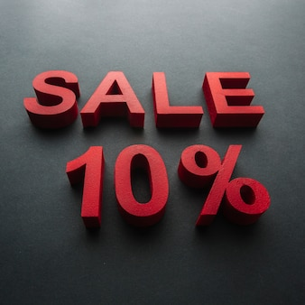 Sale with ten percent discount