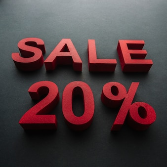 Sale with twenty percent discount