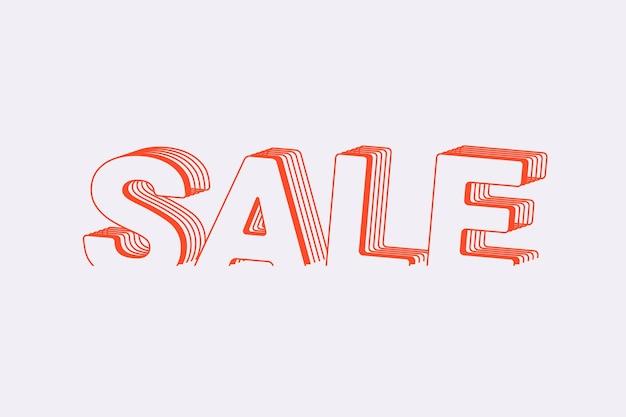 계층화 된 텍스트 스타일의 판매 단어