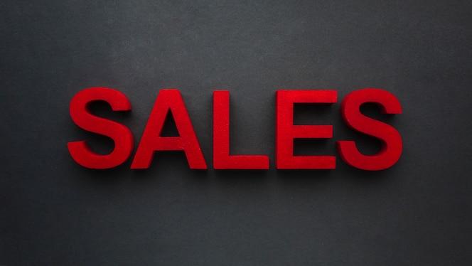 Sales concept on black background