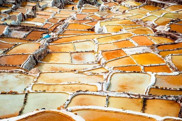 페루 쿠스코 소금 추출 지역 인근 살리나스 데 마라스
