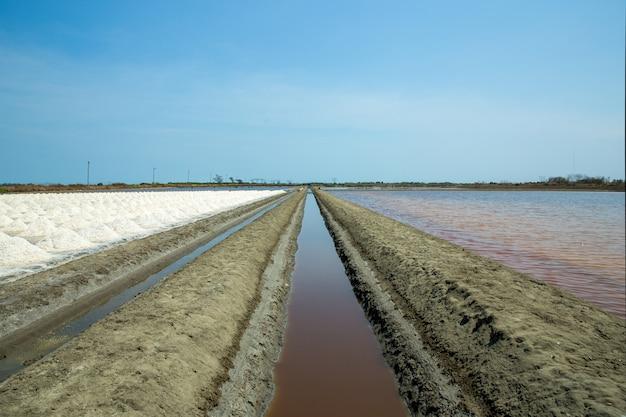 Saline, salt mining, naklua in thailand