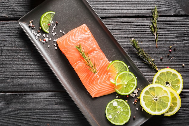 Salmon dish with herbs and spices