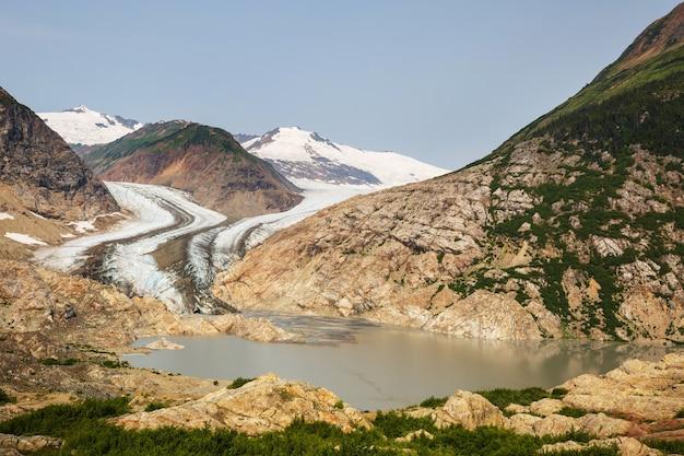 カナダ、スチュアートのサーモン氷河