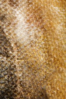 サーモン黄金の魚の鱗グランジテクスチャ背景