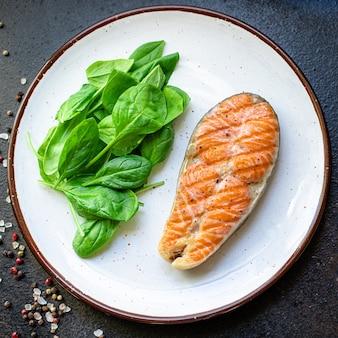 Лосось рыба на гриле жареный барбекю гриль барбекю морепродукты омега закуска готовые к употреблению