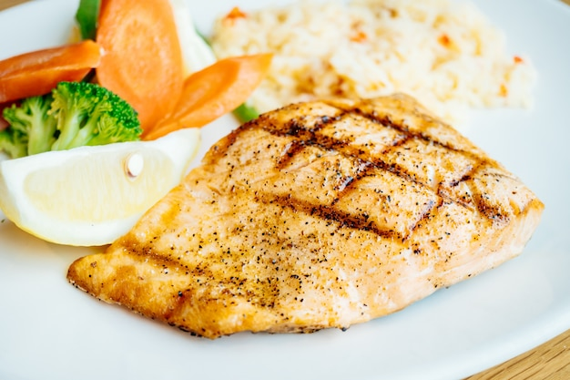Salmon meat fillet steak
