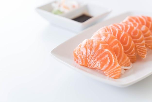 Salmon raw sashimi