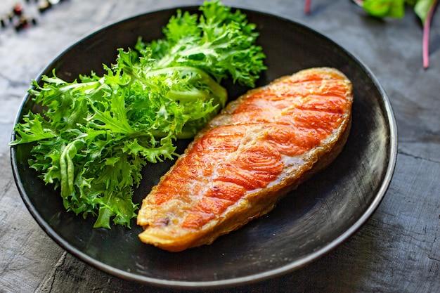 サーモンステーキフィレフィッシュシーフードの食材