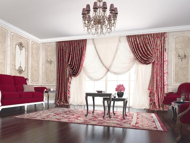 Salon with decoration