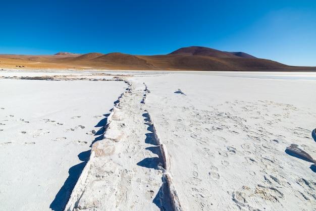 Salt lake on the andes