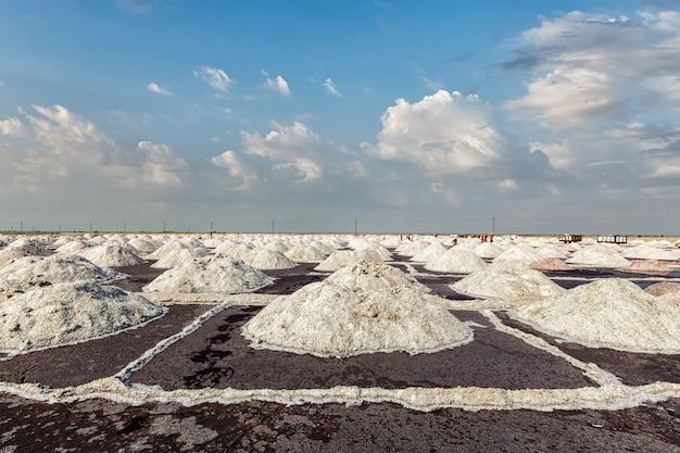 湖の塩鉱山