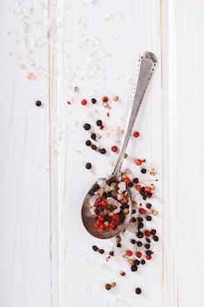 Salt in spoon