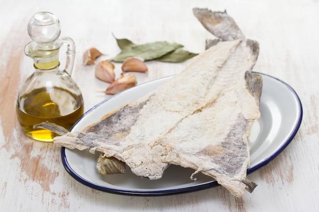 Salted dry cod fish